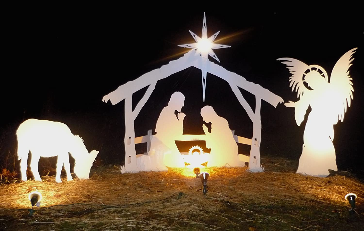 Amazon.com: Life Size Angel For MyNativity Outdoor Nativity Set (3 Sizes  Available): Garden U0026 Outdoor