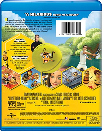 Amazon.com: Bee Movie [Blu-ray]: Jerry Seinfeld, Renee Zellweger ...