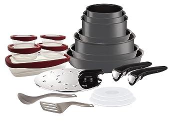 Tefal L6589903 Set de poêles et casseroles - Ingenio 5 Performance Gris 20  Pièces - Tous 96b1b5b77b73