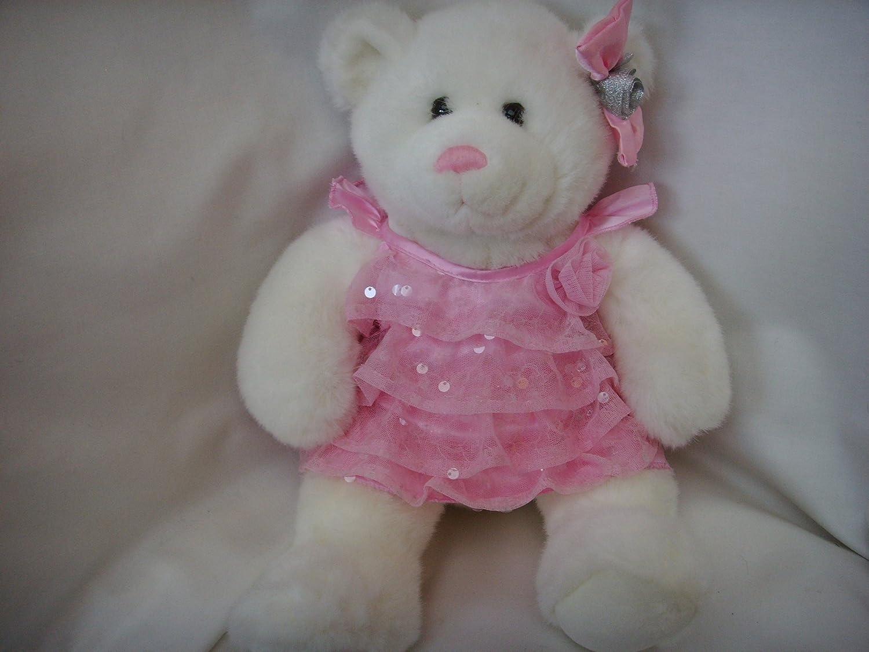 7b64e91898e Amazon.com  Build a Bear Workshop White Teddy with Pink Nose Plush Toy 15