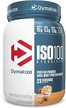 Dymatize Nutrition Dymatize, Proteína Hidrolizada en Polvo Iso100, 100% Proteína de Suero, sin Gluten, de Rápida Absorción, Fácil Digestión, Panecillo ...