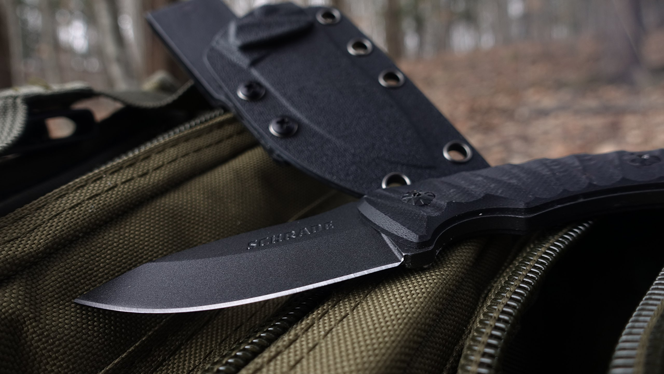 Schrade SCHF57 6.3in Steel Full Tang Fixed Blade Knife with 2.6in Drop Point Blade and G-10 Handle for Outdoor Survival Camping and Everyday Carry by Schrade (Image #5)