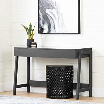 Brilliant Amazon Com South Shore 12444 Liney Console Table Charcoal Squirreltailoven Fun Painted Chair Ideas Images Squirreltailovenorg