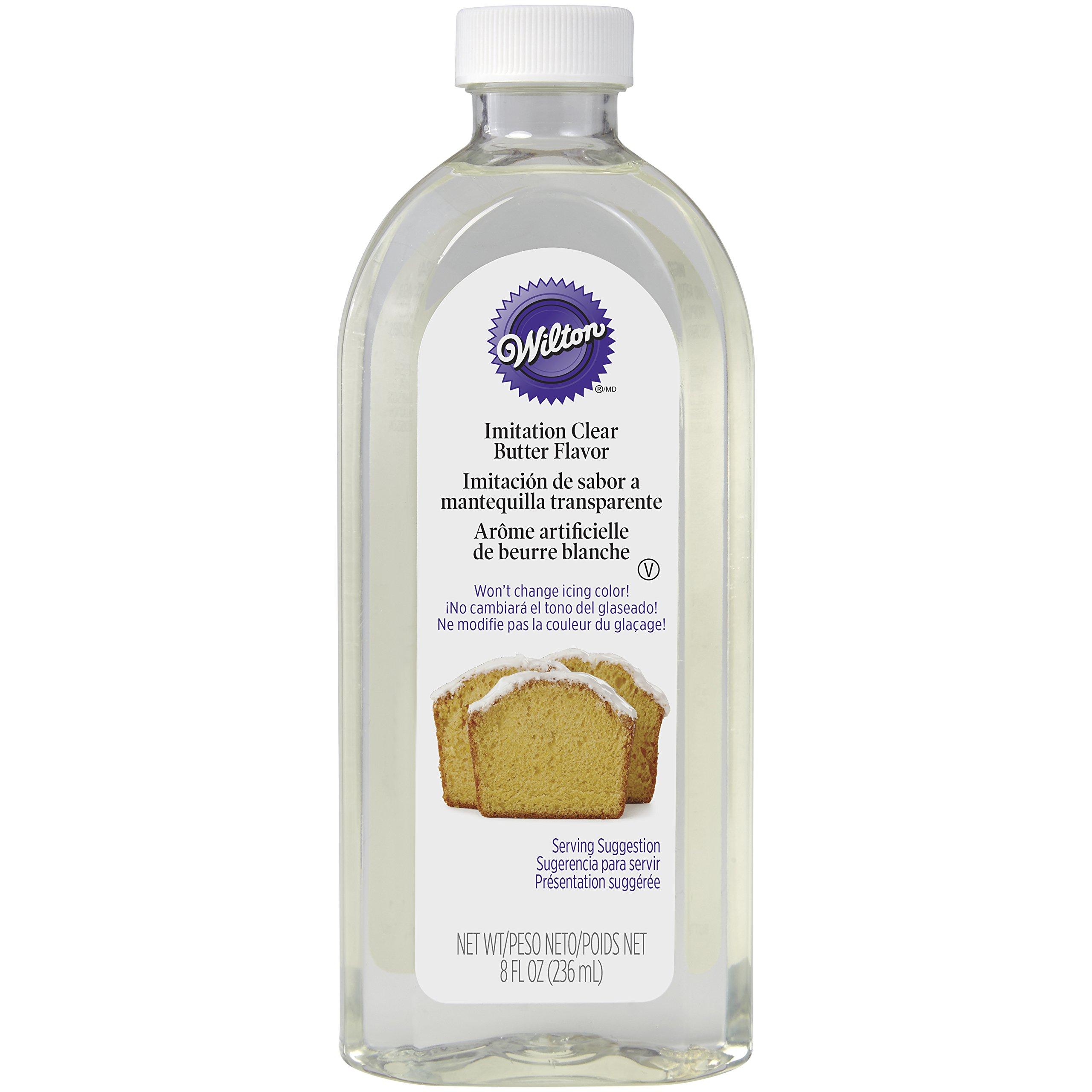 Wilton No-Color Butter Flavor 8 Fluid Ounces