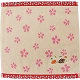 京佑 タオルハンカチ 青々庵刺繍 ハリネズミベージュ 25.5×24.5cm