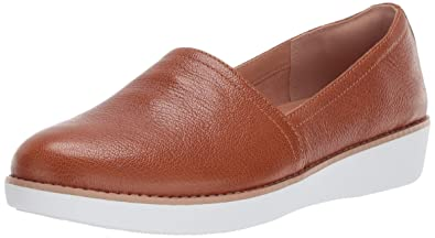 d41bedfee09a6f FitFlop Women s Casa Loafer Flat Tumbled tan 5 ...