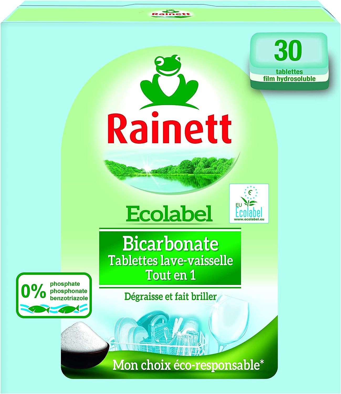 Rainett - Pastillas para lavavajillas todo en 1, ecológicas, 30 ...