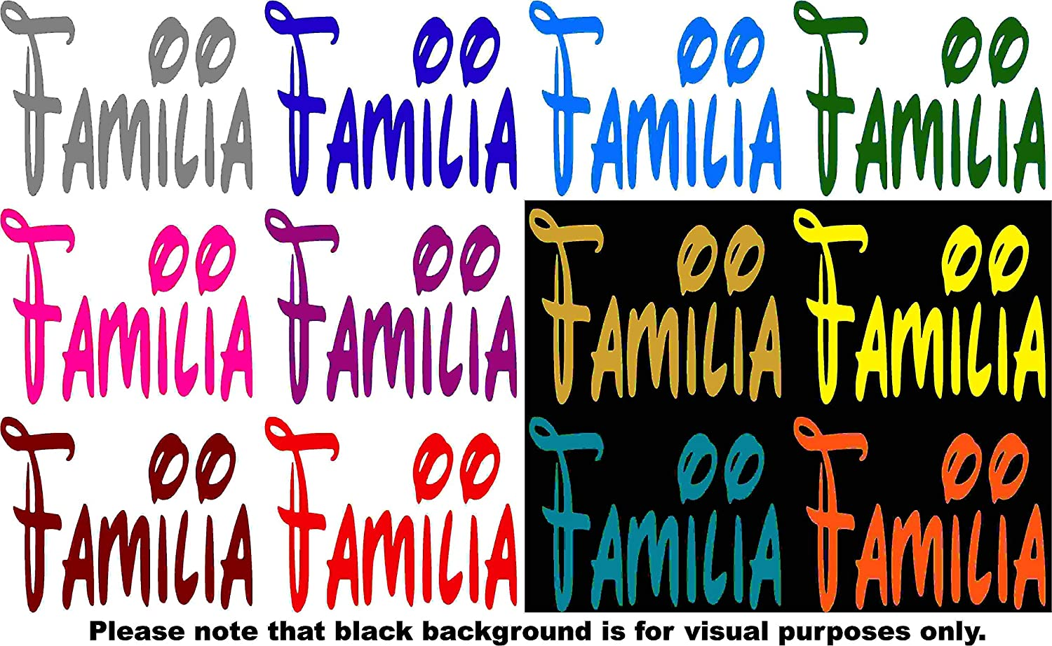 Familia Decal Choose Color V and T Gifts