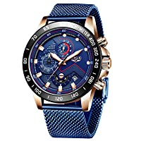 Men's Watches Stainless Steel Waterproof Analogue Quartz Mesh Wrist Watch Men