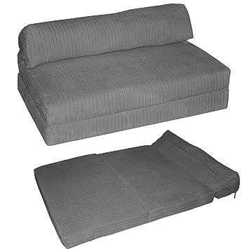 JAZZ SOFABED   JUMBO CORD Deluxe Designer Double Sofa Guest Bed (Grey):  Amazon.co.uk: Kitchen U0026 Home
