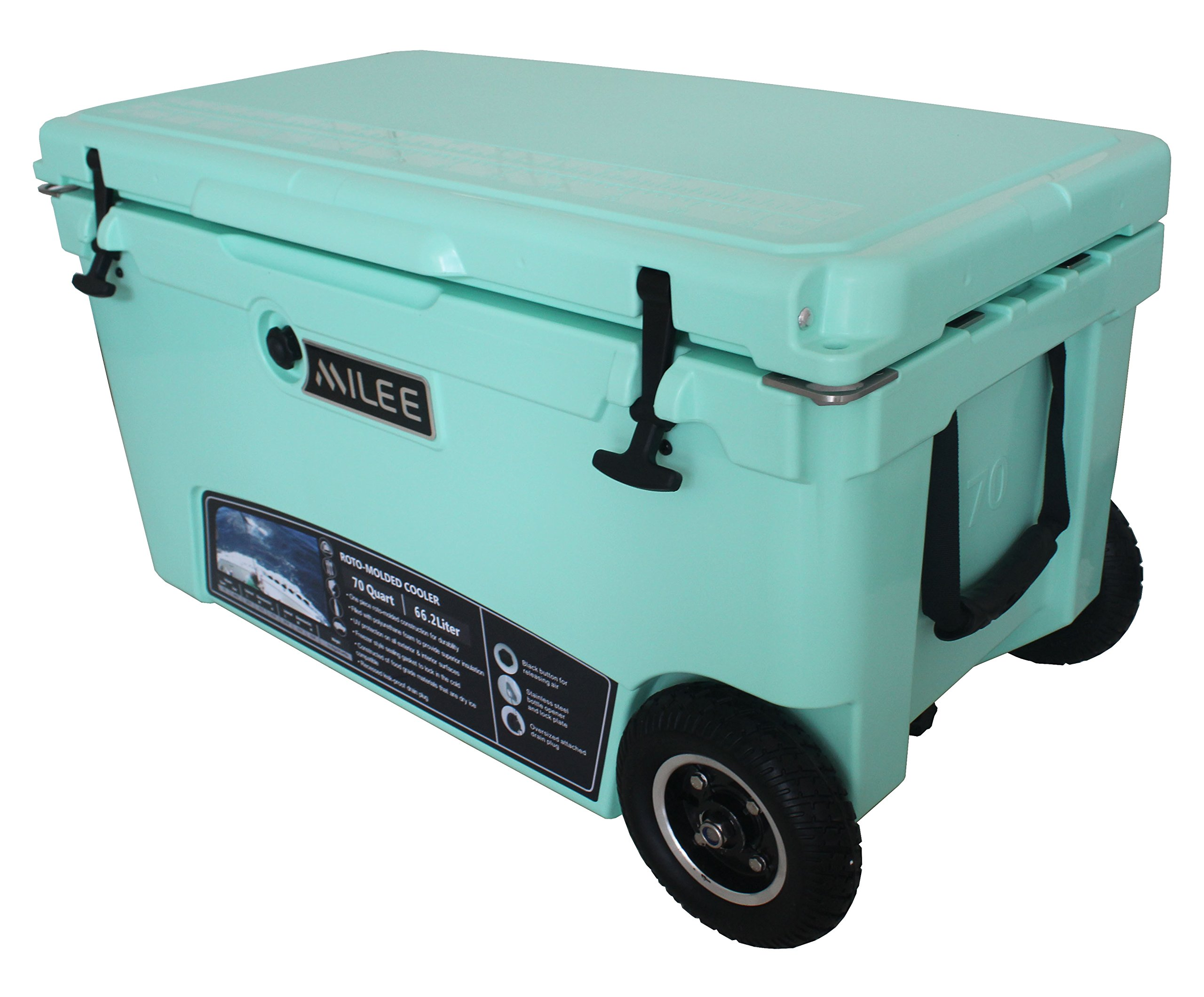 MILEE--Heavy duty Wheeled Cooler 70QT (Sea Foam Green) by MILEE