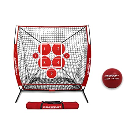 c773d6730 PowerNet Pitch Perfect Targets, Practice 5X5 Net and Strike Zone Attachment  Bundle | Baseball Softball