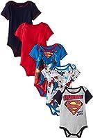 Warner Brothers Baby Newborn Boy Five-Pack Superman Bodysuits