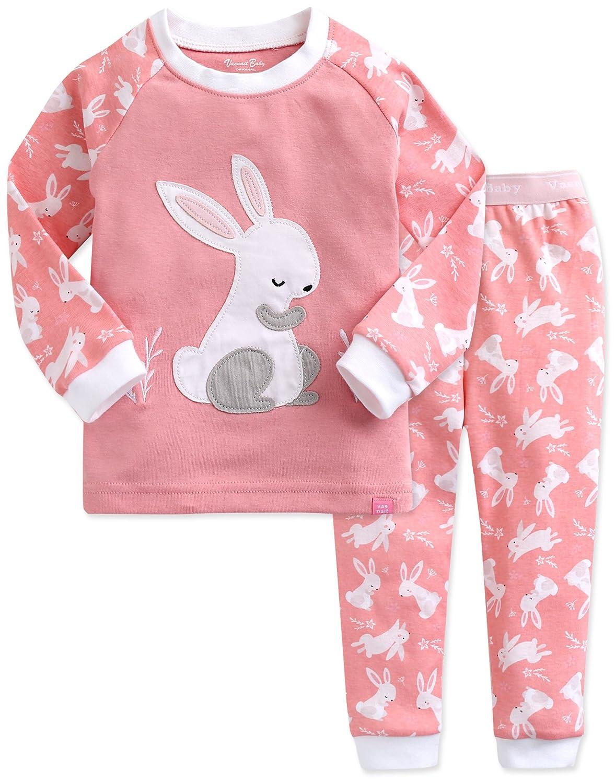 Vaenait baby 74-122 Kinder Mädchen Bekleidung Langarm Zweiteilig Schlafanzug Nachwäsche Heeling Rabbit Set SWL_479