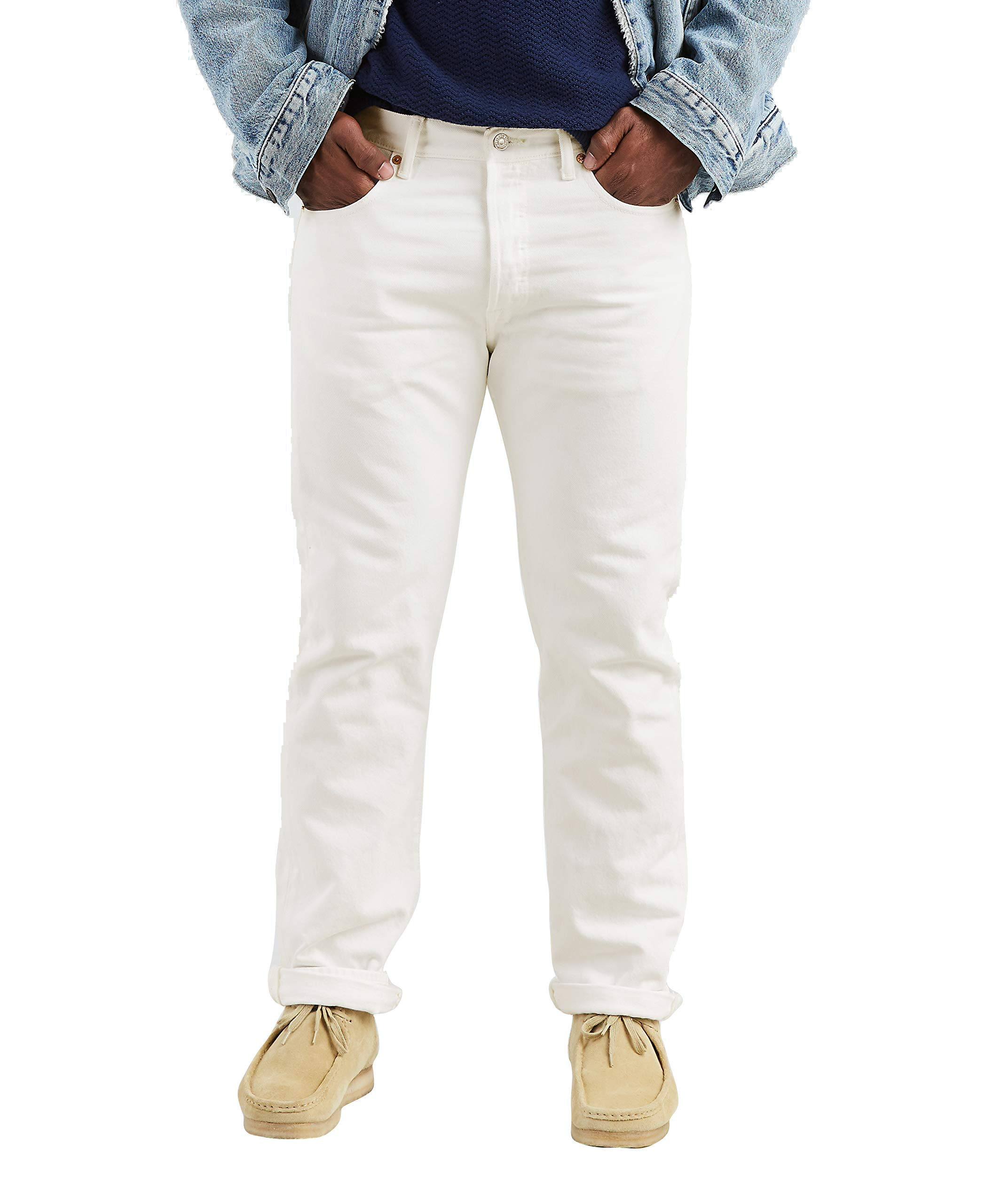 Levi's Men's 501 Original Fit Jean,Optic White,40x32