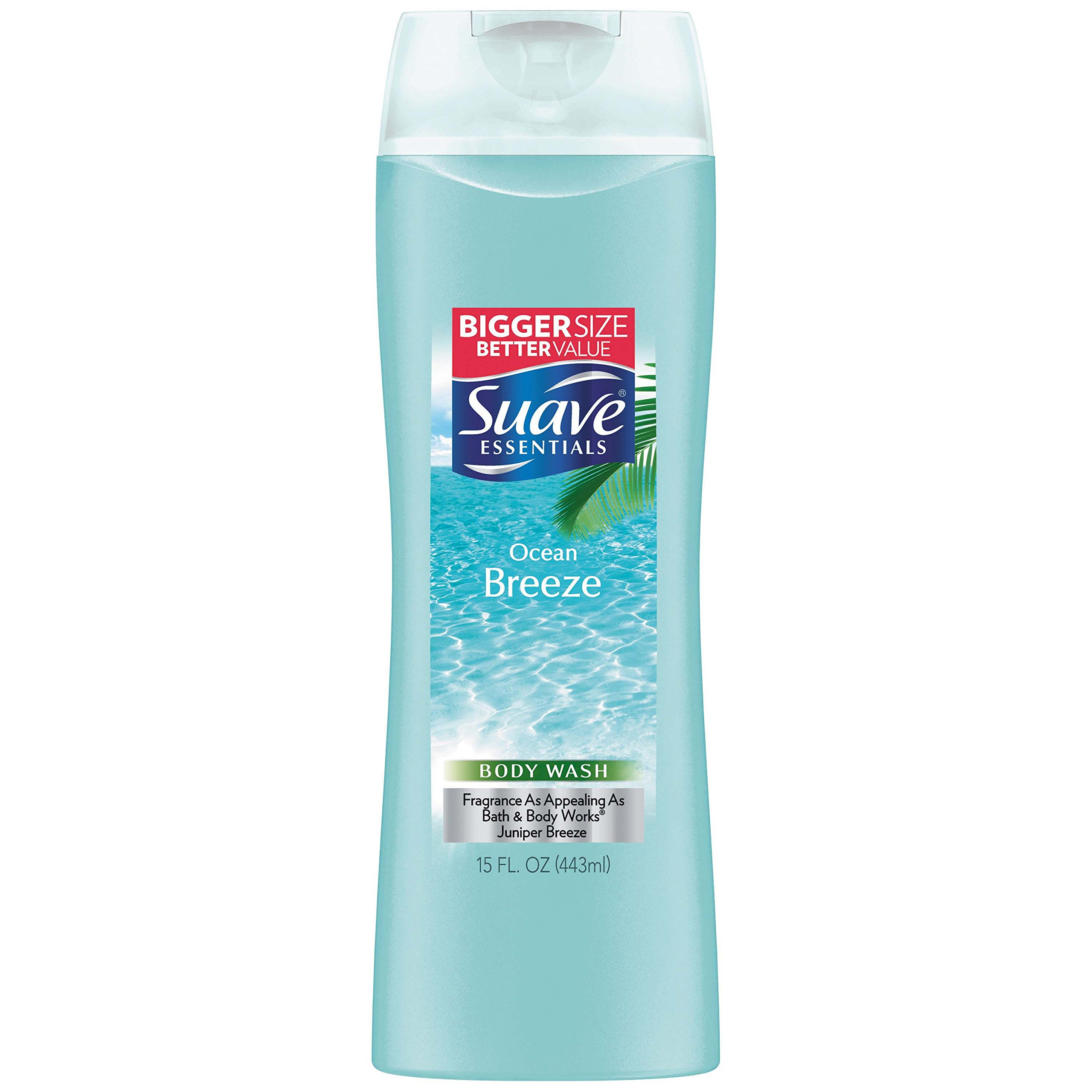 Suave Essentials Body Wash, Ocean Breeze 15 oz (Pack of 6)