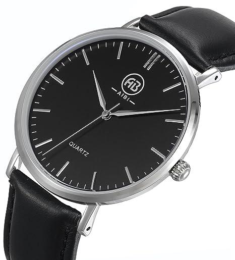 AIBI hombres analógico reloj de cuarzo resistente al agua relojes para hombre, con 40 mm Caso: AIBI: Amazon.es: Relojes