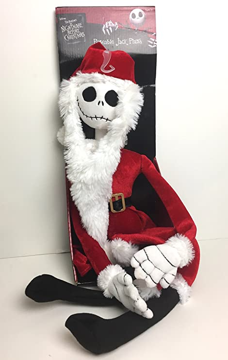 5ec3bb4478eeb Image Unavailable. Image not available for. Color  Nightmare Before  Christmas The Poseable Jack Skellington as Santa Plush