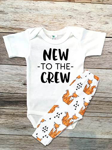 a67c782a11e71 Amazon.com: Baby Boy Clothes NEW to the CREW new baby gift, Going ...