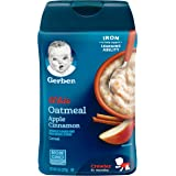 Gerber Baby Cereal, Lil' Bits Oatmeal Apple Cinnamon, 8 Ounce (Pack of 6)