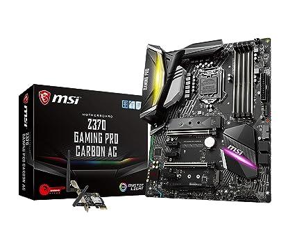 MSI Performance GAMING Intel 8th Gen LGA 1151 M 2 DVI HDMI USB 3 1 Gigabit  LAN SLI CFX WiFi ATX Motherboard (Z370 GAMING PRO CARBON AC)