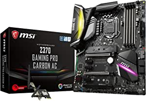 MSI Performance GAMING Intel 8th Gen LGA 1151 M.2 DVI HDMI USB 3.1 Gigabit LAN SLI CFX WiFi ATX Motherboard (Z370 GAMING PRO CARBON AC)