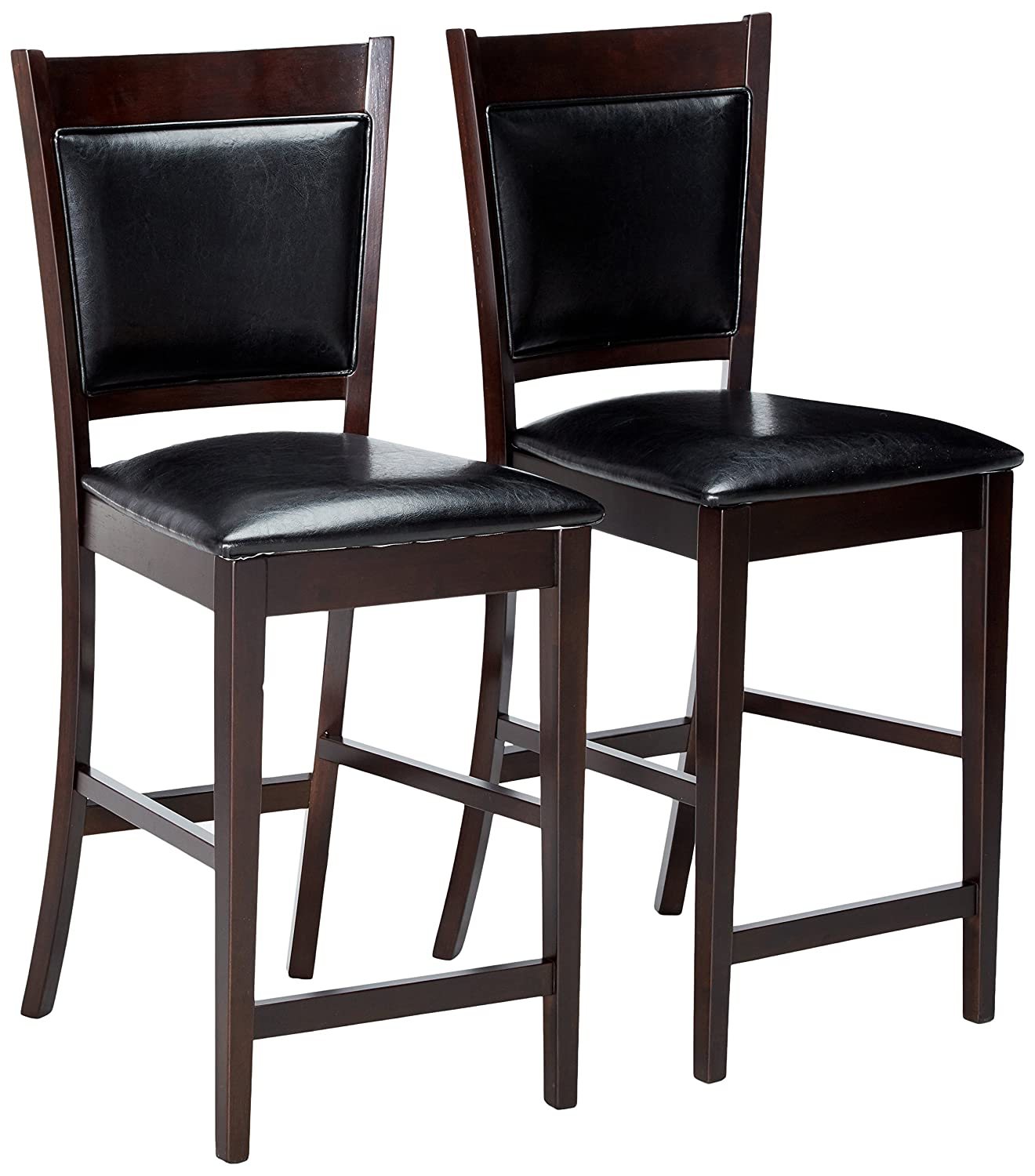 Amazon com jaden casual espresso counter height chair kitchen dining