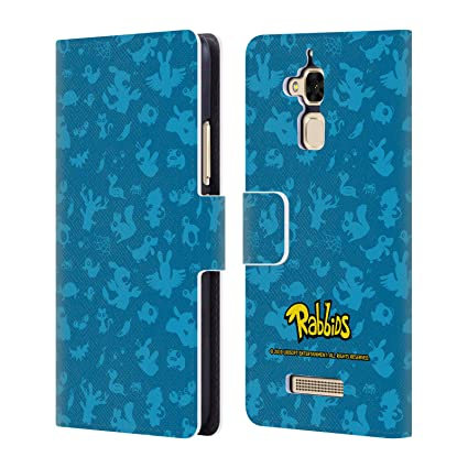 Amazon.com: Official Rabbids Blue Animals Patterns Leather ...
