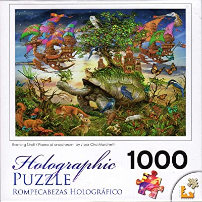 Evening Stroll Holographic 1000 pc Puzzle by Artist Ciro Marchetti: Toys & Games