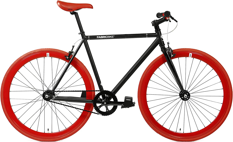 FabricBike Original Bicicleta, Adultos Unisex, Negro Mate y Rojo 2.0, Pequeño: Amazon.es: Deportes y aire libre