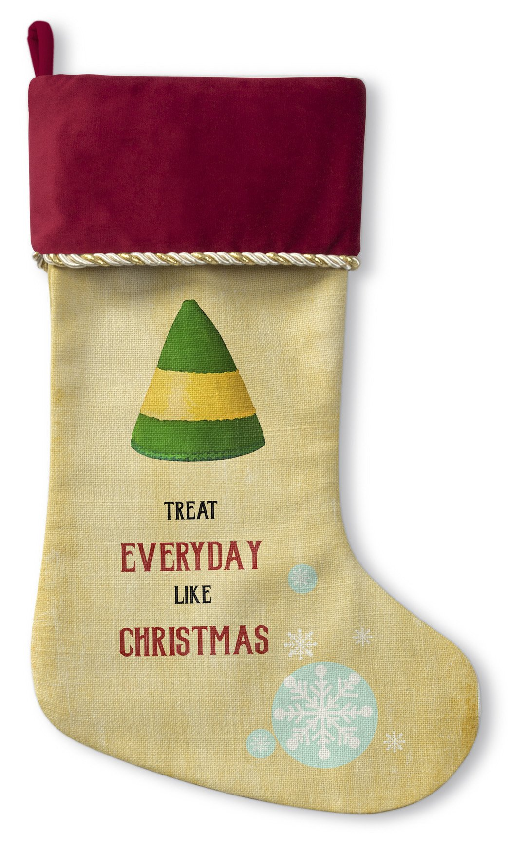 KAVKA DESIGNS Everyday Holiday Stocking Christmas Stocking, (Gold/Red/Green) - TRADITIONS Collection, Size: 12.5x21 - (TELAVC1046CSTR) by KAVKA DESIGNS