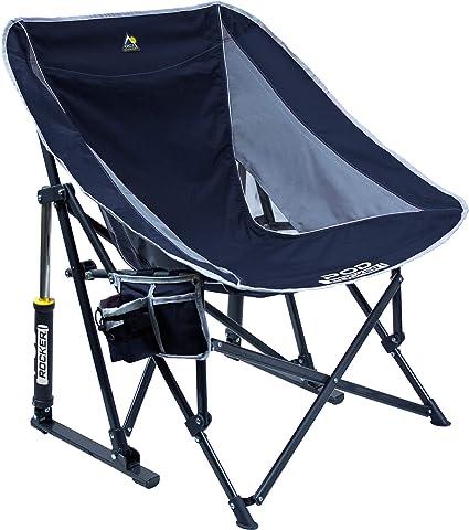 Gci Outdoor Pod Rocker Collapsible Rocking Chair Indigo Blue Amazon Ca Sports Outdoors