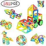 Magnetic Blocks, Minto toy Magnetic Tile 101 PCS Set Magnet Building Blocks Construction Toys Educational Toys for Kids Boys and Girls Minto Toy