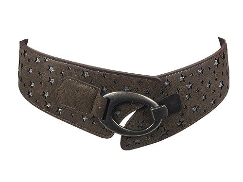 Markenlos - Cinturón - para mujer azul azul oscuro Talla única