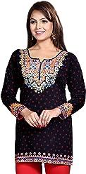 Women Fashion Printed Short Indian Kurti Tunic Kurta Top Shirt Dress 127C