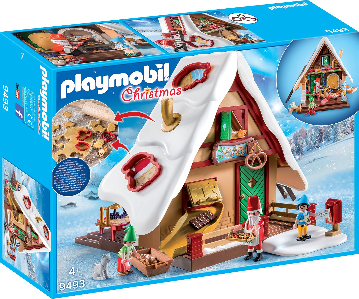 Amazon.com: PLAYMOBIL 9493 Christmas Bakery with Cookie Cutters - NEW 2018: Kitchen & Dining