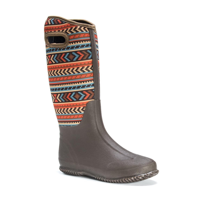 MUK LUKS Women's Karen Rainboots Rain Shoe B01LML0Z8C 6 B(M) US|Brown