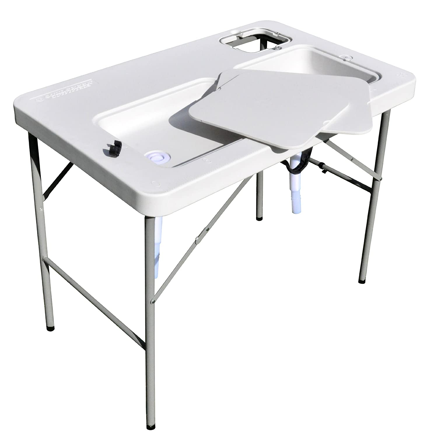 Coldcreek Ultimate Outdoor Workstation, Perfect Fish And Game Cleaning Table,  Full Drain System,