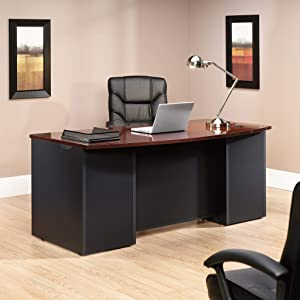 Sauder Via Collection Executive Desk, Classic Cherry finish