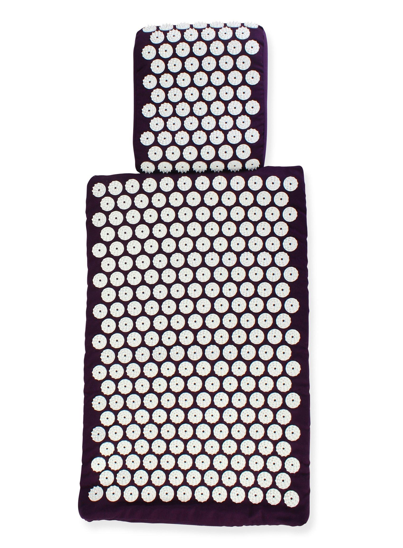 White Lotus Kit d'acupression - tapis et oreiller - la 1re place des meilleurs sur Vergleich.org 2017- Les seuls oreillers et tapis fabriqués en Europe avec mousse à mémoire de forme, hypoallergénique product image