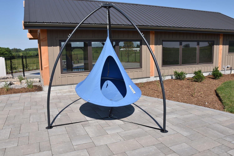 Amazon Com Vivere Tripod Hammock Chair Stand Garden Outdoor