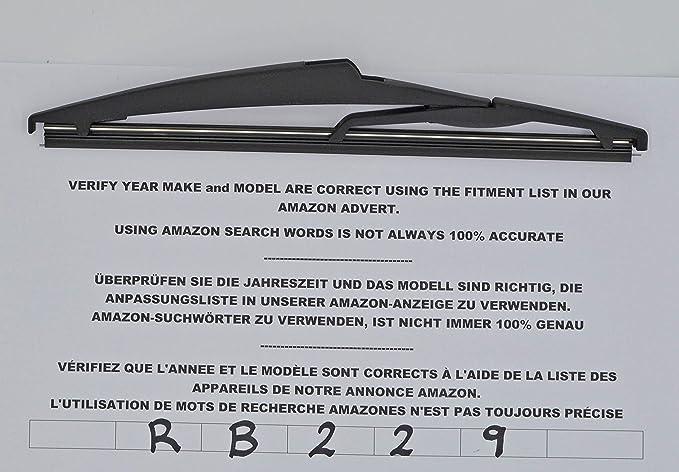 Exact Fit RB229 - Limpiaparabrisas trasero (24 cm): Amazon.es: Coche y moto