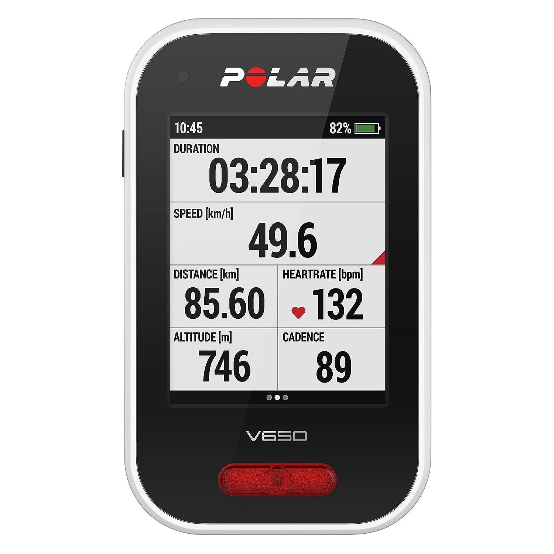 Polar V650 Ciclismo Ordenador - 90050534, con Monitor de Ritmo ...