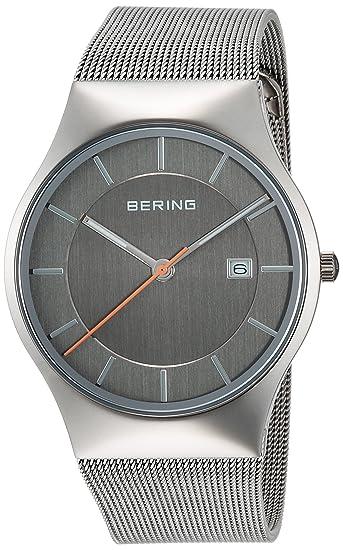 Bering Reloj de hombre acero inoxidable 11938 - 007 139: Amazon.es: Relojes