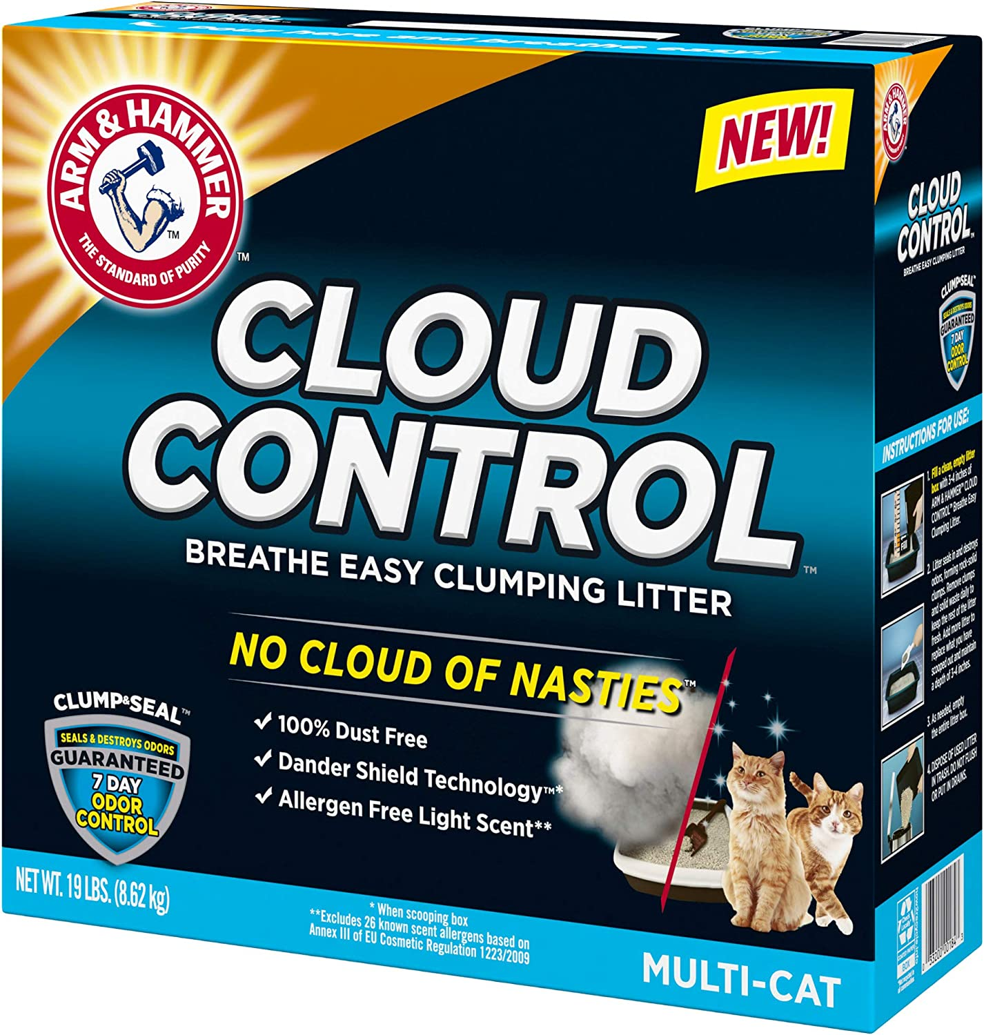 Arm & Hammer Clump & Seal Cloud Control Multi-Cat Litter