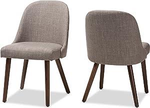 Baxton Studio Judith Dining chair, Light Grey