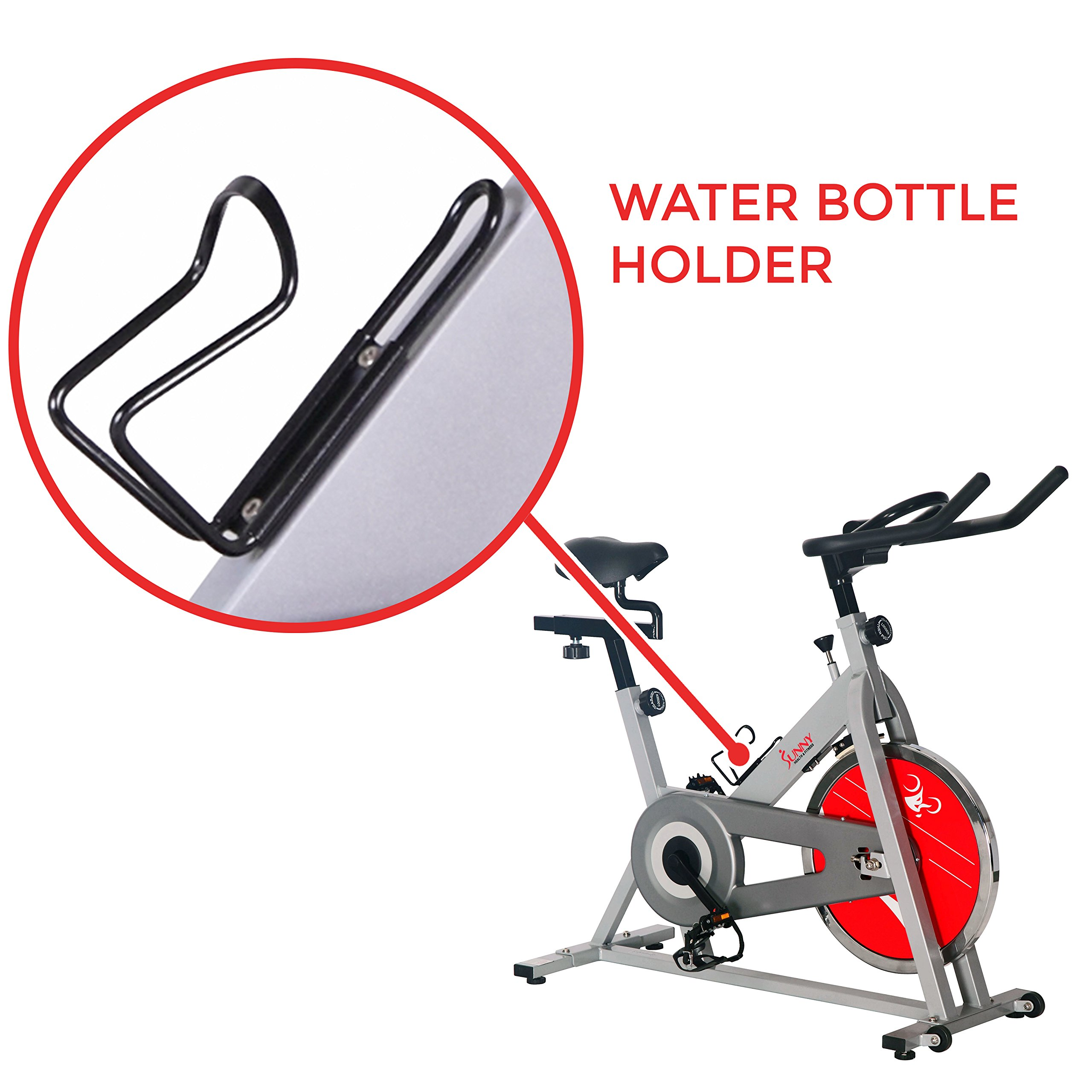 Sunny Health & Fitness SF-B1001S Indoor Cycling Bike, Silver by Sunny Health & Fitness (Image #5)