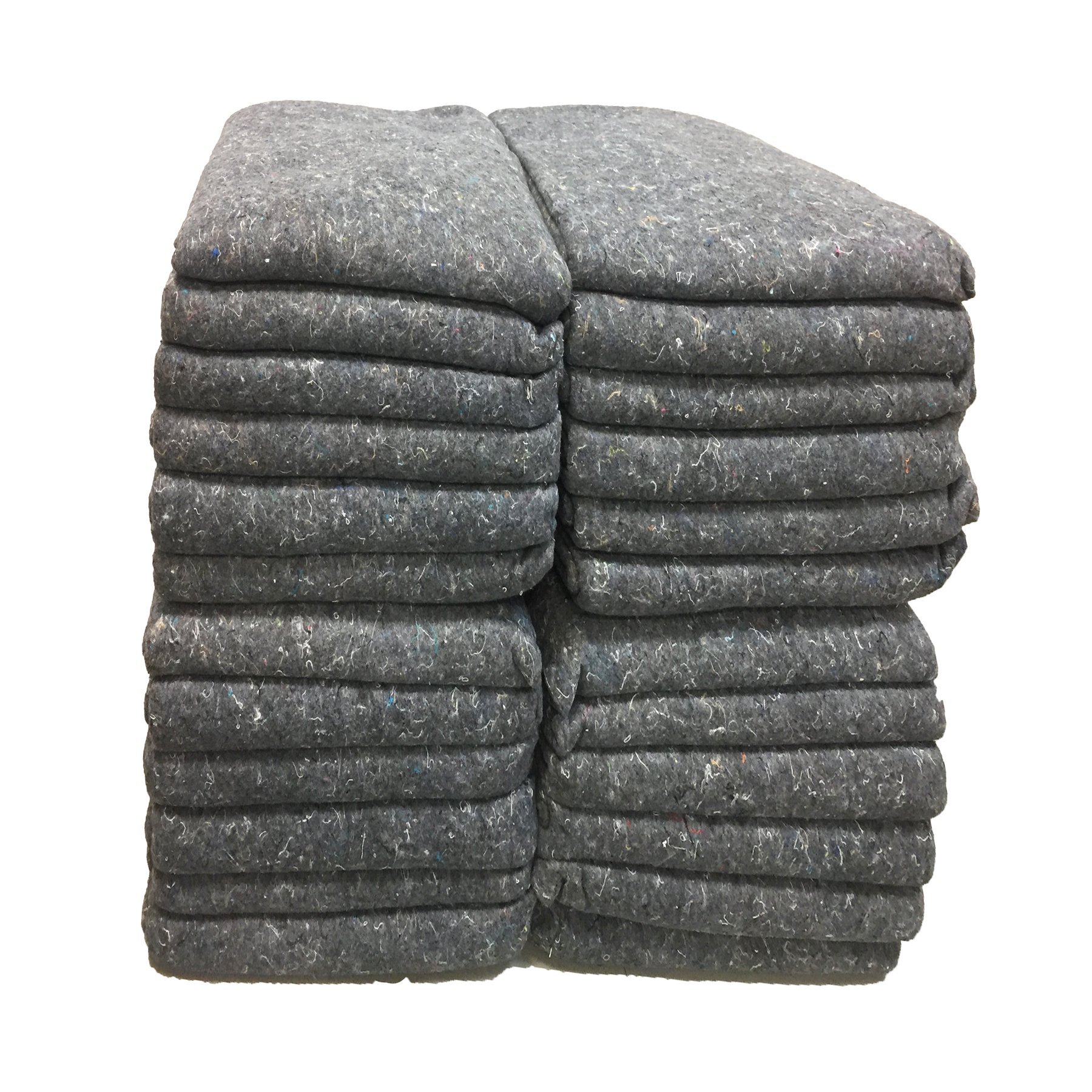 UBOXES Moving Blankets Professional Quality Textile Skins 54'' x 72'' Pads, Grey (24-Pack)