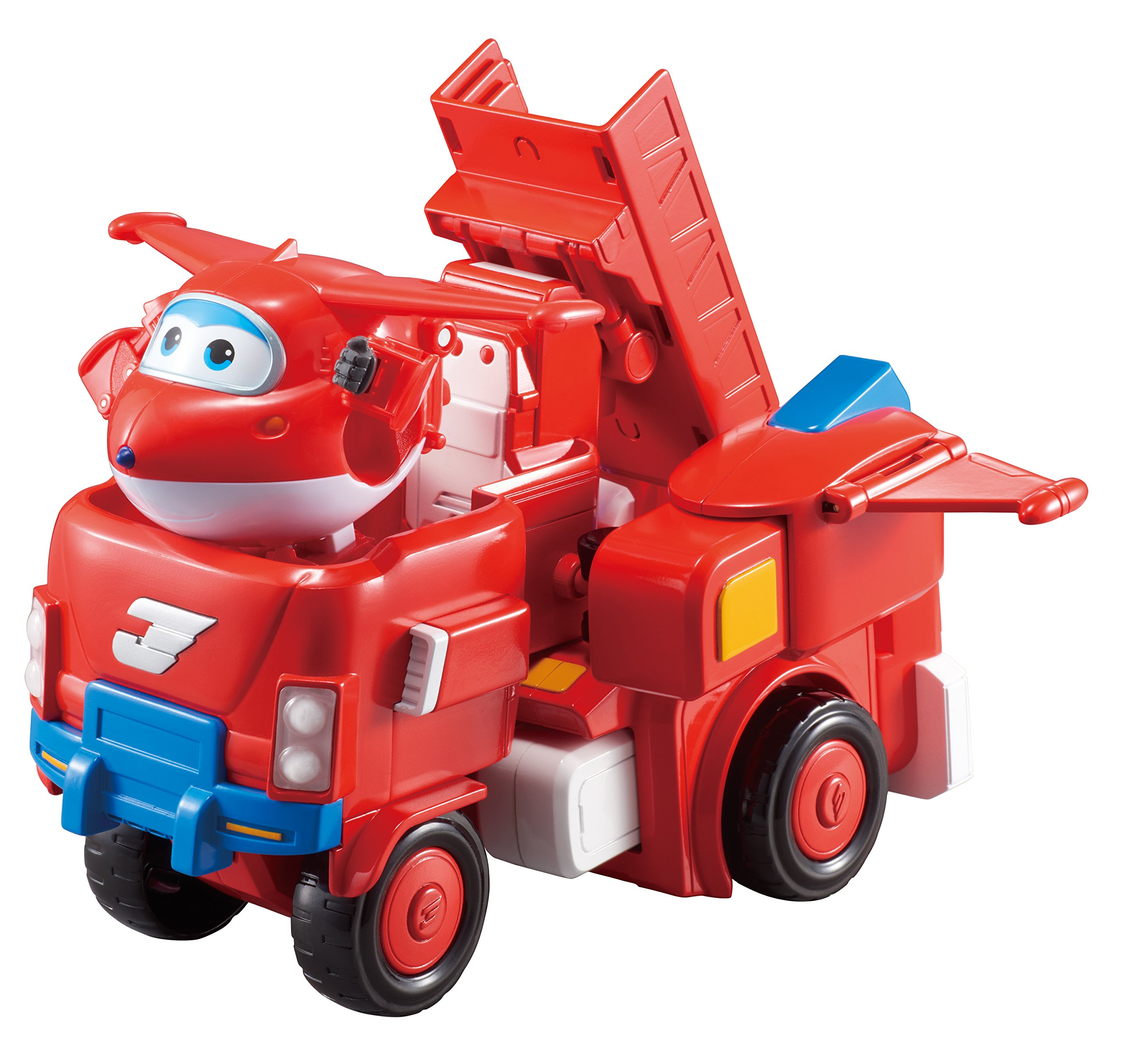 Super Wings - Jett's Super Robot Suit Large Transforming Toy Vehicle | Includes Jett | 5'' Scale by Super Wings - (Image #3)