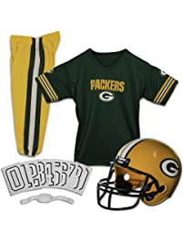 Franklin Sports Deluxe NFL-Style Youth Uniform – NFL Kids Helmet, Jersey, Pants, Chinstrap and Iron on Numbers Included...